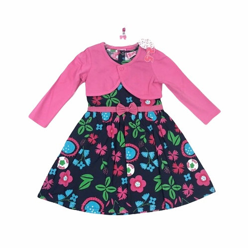 Mini Moi 4-5 years Navy Floral Dress and Bolero Set - BRAND NEW