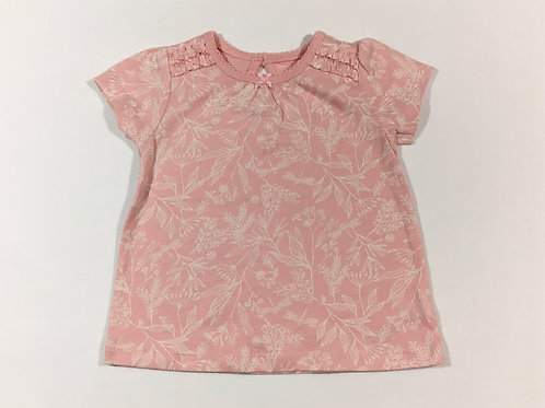 George 3-6 months Baby Pink T-shirt with White Flowers