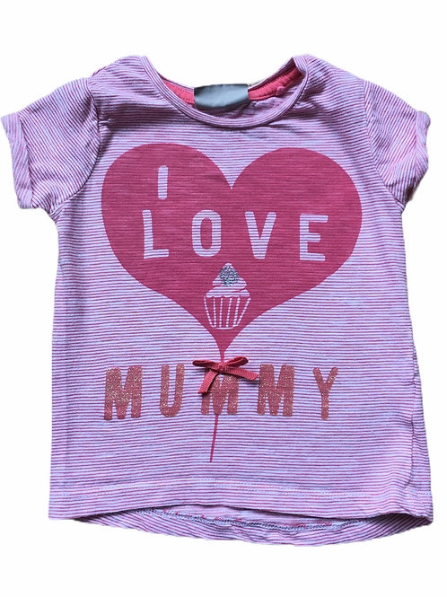 Next 6-9 months 'I Love Mummy' T-Shirt