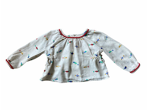 M&S 9-12 months Fish Long Sleeve Top