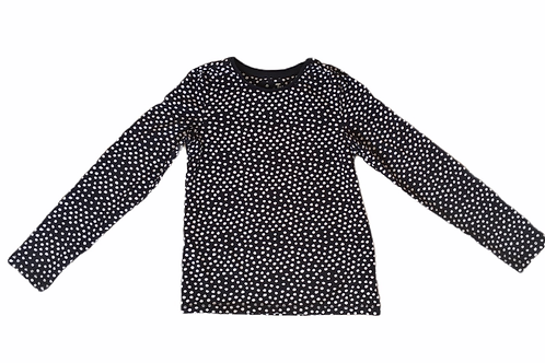 TU 8 years Navy and White Polka Dot Long Sleeve Top