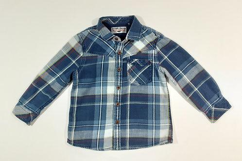 Next 2-3 years Blue Check Long Sleeve Shirt