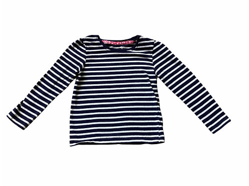 Primark 3-4 years Navy and White Striped Long Sleeve Top