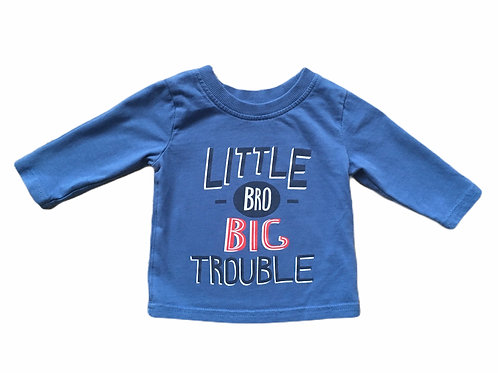 George 0-3 months 'Little Bro Big Trouble' Long Sleeve Top