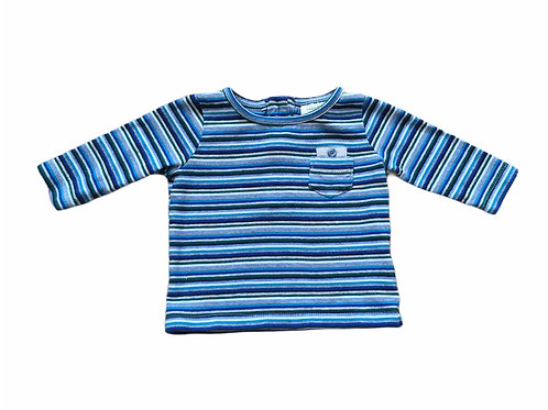 Next Up to 1 month Blue Striped Long Sleeve Top
