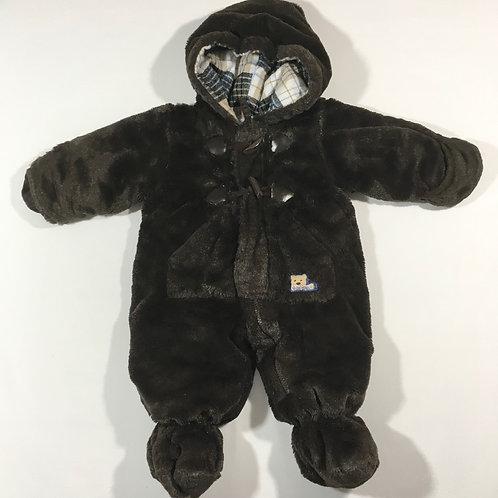 Rothschild 0-6 months Brown Teddy Bear Pramsuit/Snowsuit
