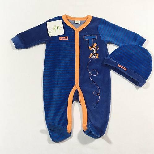 Disney Baby 0-3 months Velour Tigger Sleepsuit with Hat – BRAND NEW