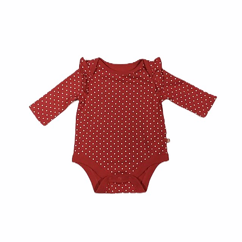 Baby Gap 0-3 months Polka Dot Long Sleeve Ruffle Bodysuit