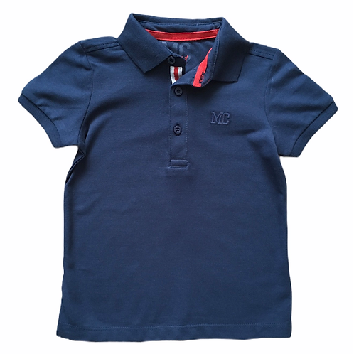 Mothercare 9-12 months Navy 100% Cotton Polo Shirt - BRAND NEW