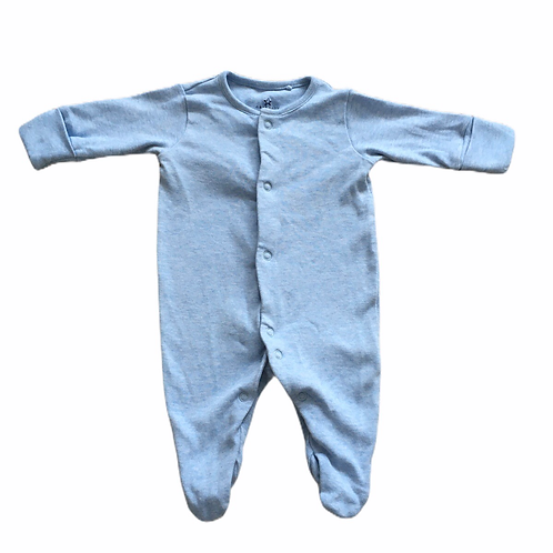 Next First Size Baby Blue Sleepsuit