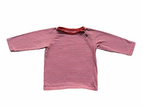 M&S 12-18 months Burnt Orange and White Striped Long Sleeve Top