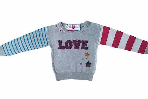 Lily & Lola 7-8 years Love Jumper - BRAND NEW