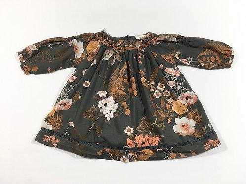 Next 3-6 months Dark Grey Floral Dress