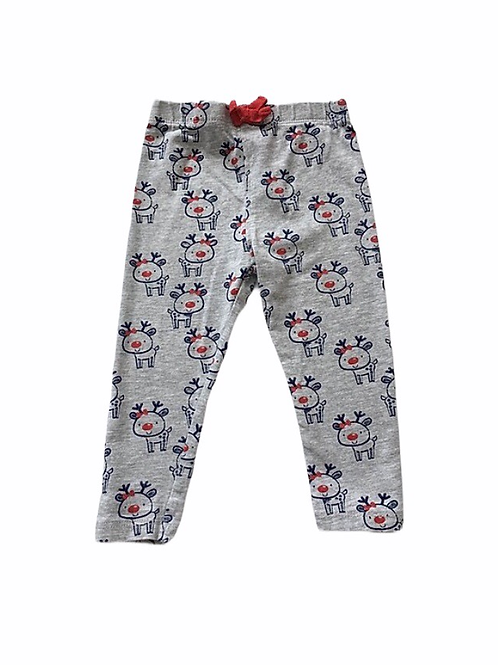 M&Co. 3-6 months Grey Reindeer Christmas Leggings