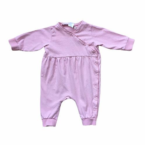 H&M 2-4 months Dusky Pink Sleepsuit