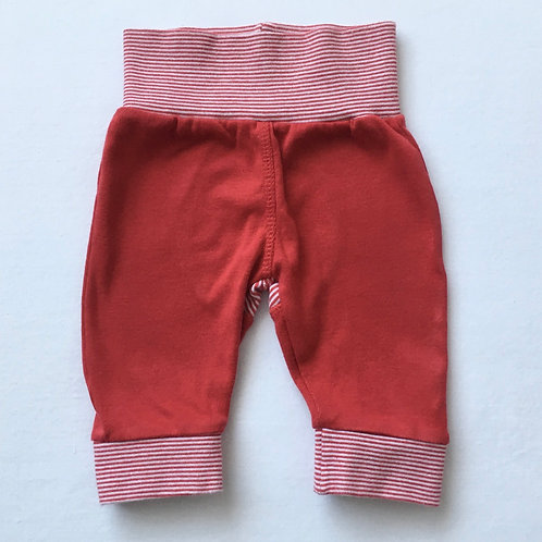 Mothercare 0-3 months Red and White Trousers