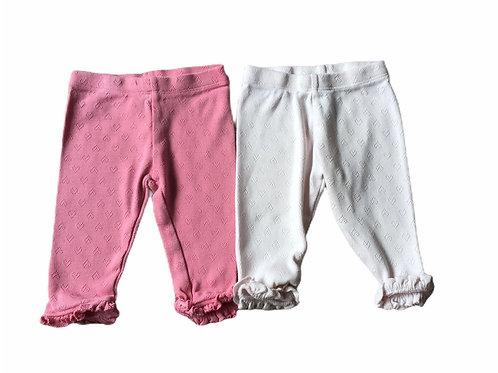 Next 3-6 months 2 x Pink Heart Leggings