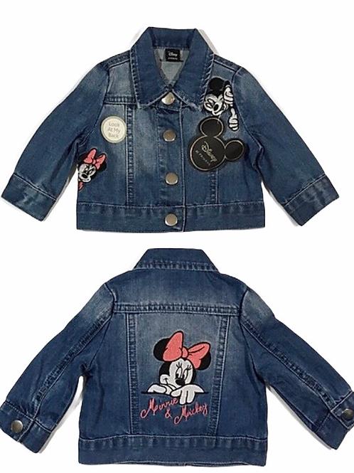 Primark 3-6 months Disney Minnie Mouse Denim Jacket - BRAND NEW