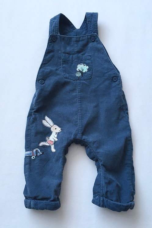 M&S 6-9 months Navy Cord Dungarees