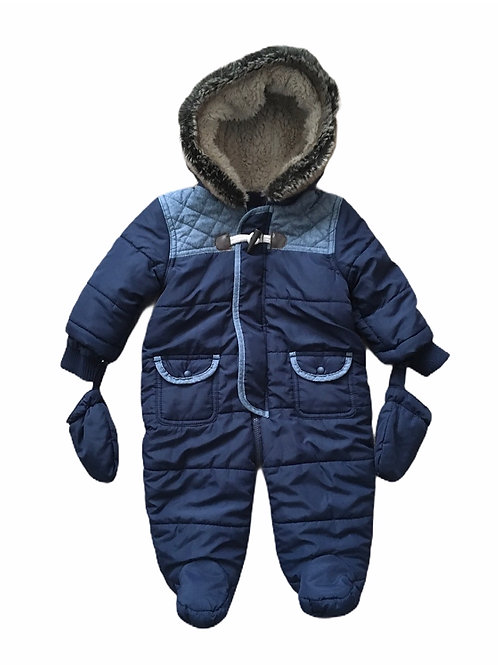 Matalan 6-9 months Padded Pramsuit with Mittens