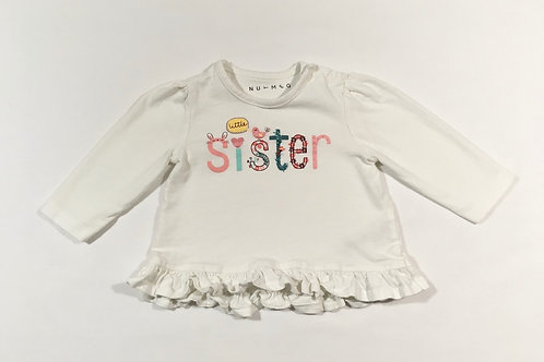 Nutmeg 3-6 months Little Sister Long Sleeve Top
