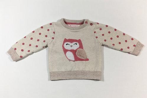 Primark 3-6 months Owl Jumper