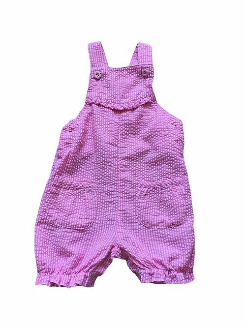 TU 6-9 months Pink Striped Lightweight Dungarees