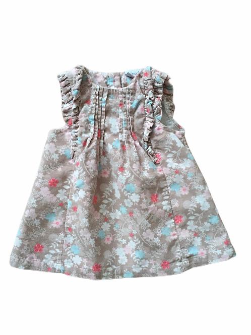 Boots Mini Club Newborn Cord Floral Pinafore Dress