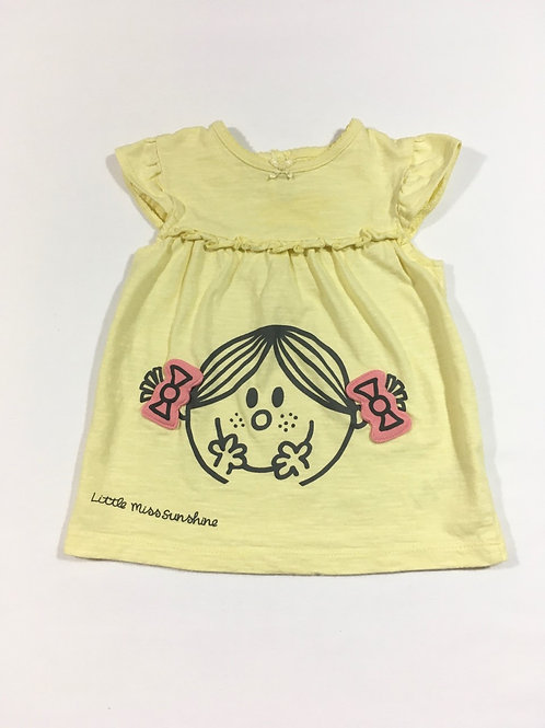 George 3-6 months Little Miss Sunshine Top