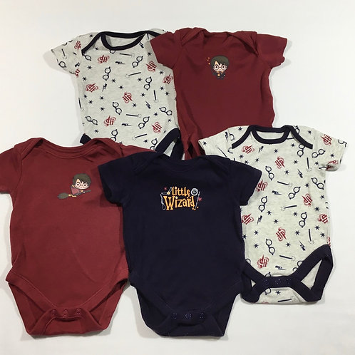 George 3-6 months 5 x Harry Potter Short Sleeve Bodysuits