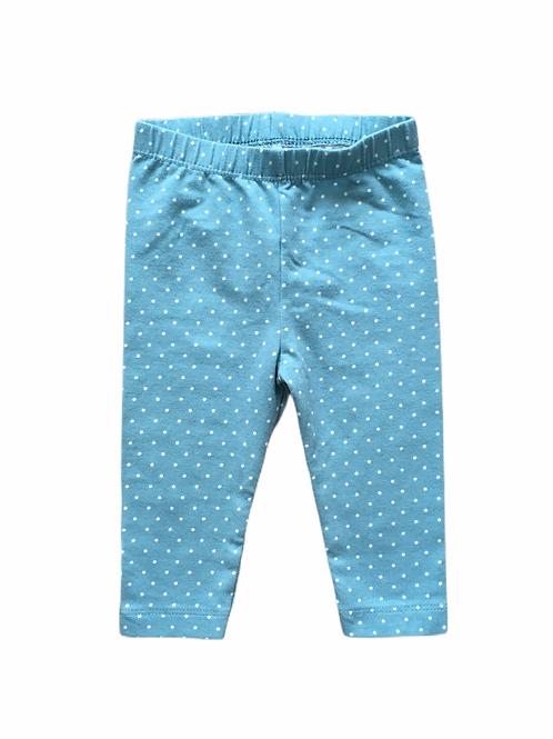 Nutmeg 3-6 months Turquoise Polka Dot Leggings