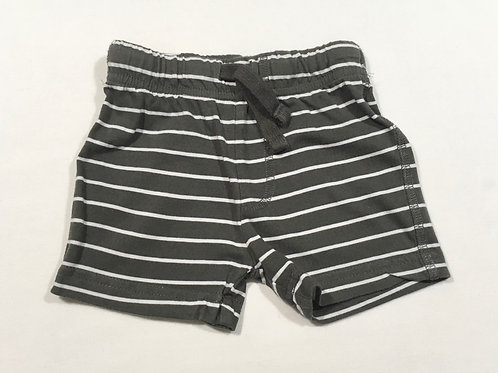 F&F 3-6 months Grey and White Striped Shorts