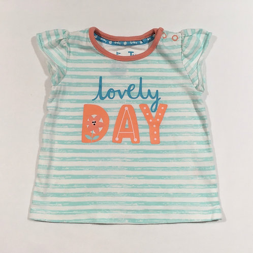 TU 6-9 months Lovely Day Striped T-shirt