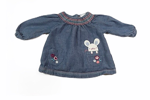 F&F 0-3 months Denim Long Sleeve Top