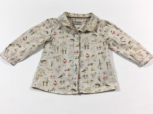 Next 6-9 months Animal Long Sleeve Blouse