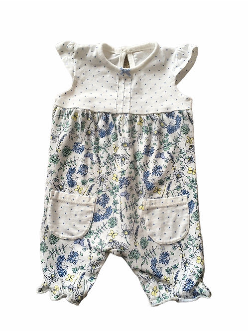 George 3-6 months Floral and Polka Dot Romper
