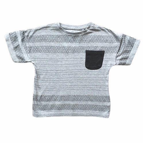 TU 2-3 years Grey Patterned T-Shirt