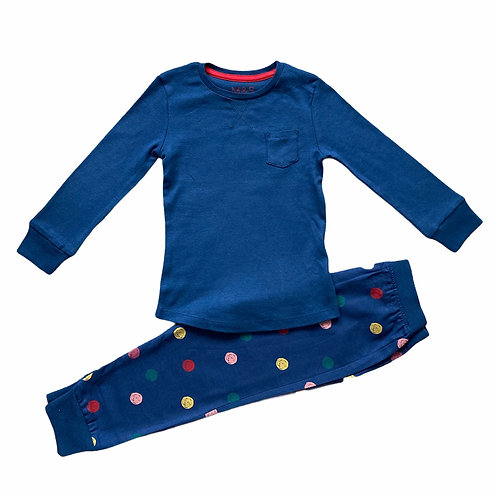 Ex High Street 5-6 years Navy Spot Pyjamas - BRAND NEW