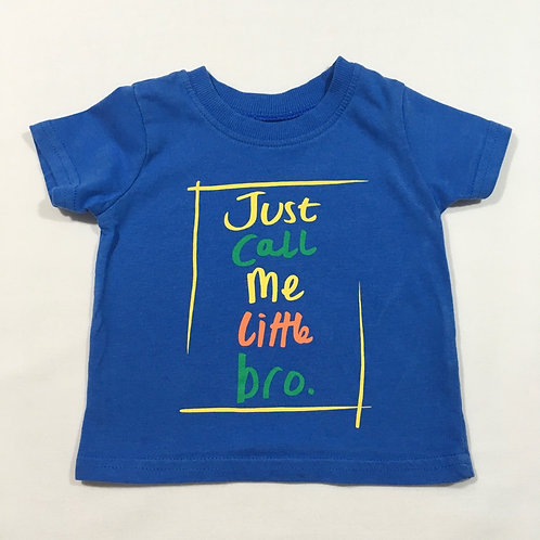 George 3-6 months 'Just Call Me Little Bro' T-shirt