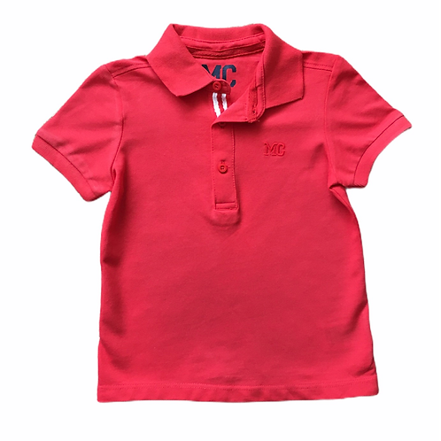 Mothercare 9-12 months Red 100% Cotton Polo Shirt - BRAND NEW