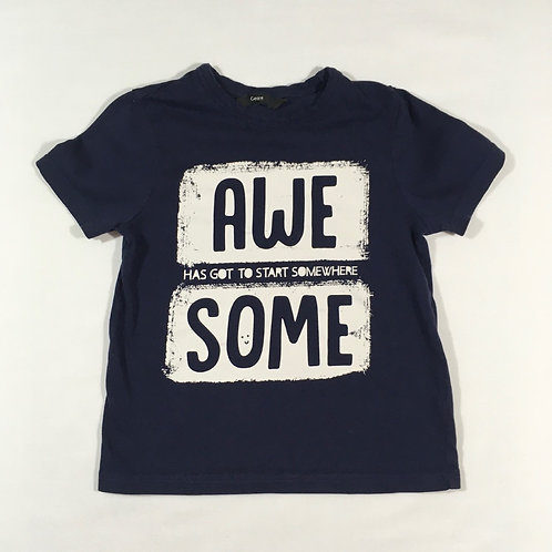 George 3-4 years Navy 'Awesome' T-shirt
