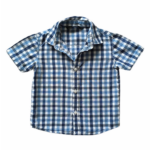 George 1.5-2 years Short Sleeve Check Shirt