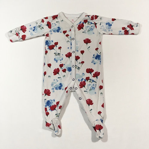 Next 3-6 months Floral Sleepsuit