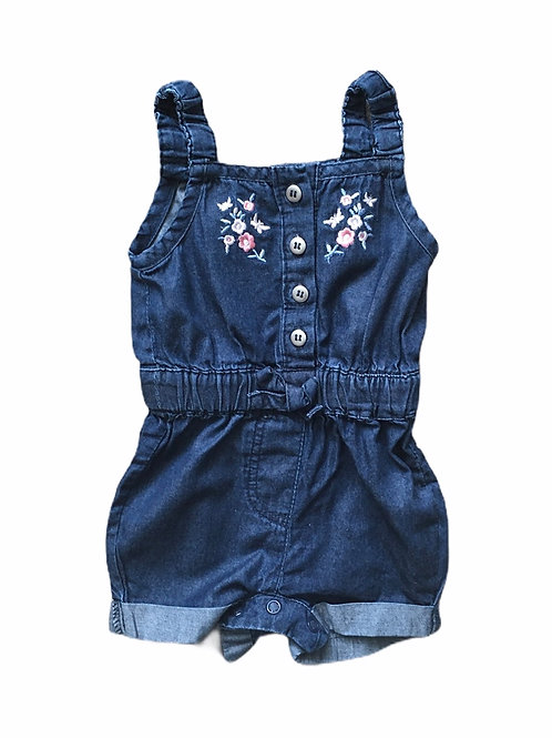 Primark 0-3 months Denim Floral Playsuit
