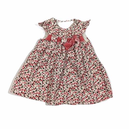 Nutmeg Newborn Floral Cord Dress