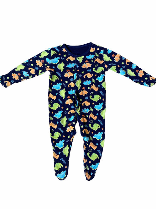 George 3-6 months Navy Dinosaur Sleepsuit