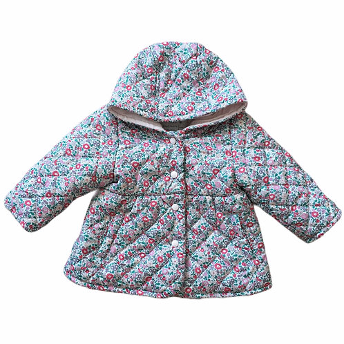 M&S 3-6 months Floral Padded Coat with Hood