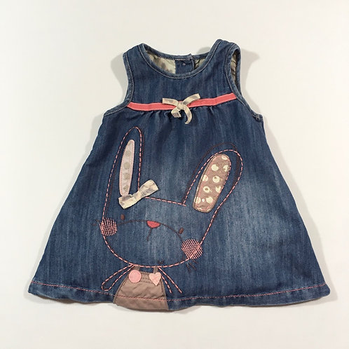 Next 9-12 months Rabbit Denim Dress