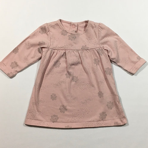 M&S 3-6 months Dusky Pink Long Sleeve Dress