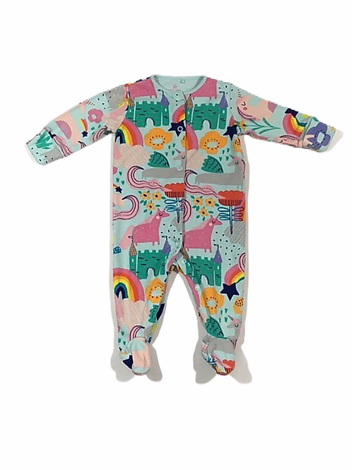 Next 3-6 months Unicorn and Rainbows Sleepsuit